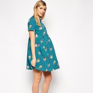 Asos Maternity Bird Print Dress NWT Size 10